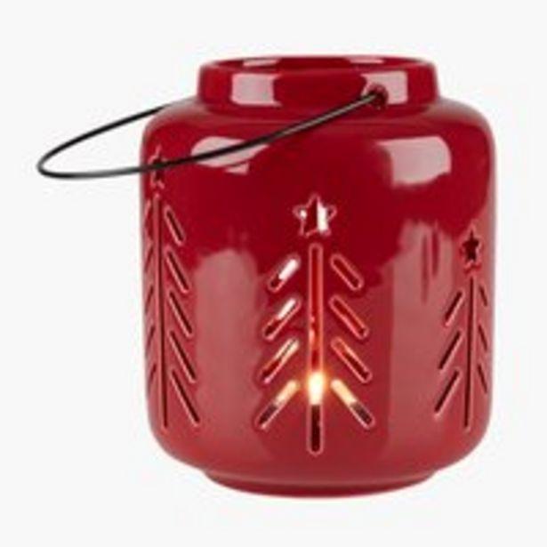 Lyhty HARMOND Ø11xK13cm punainen -tarjous hintaan 5,49€