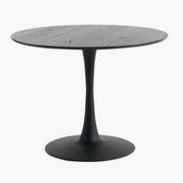 Ruokapöytä RINGSTED Ø100 musta tuhka -tarjous hintaan 219€