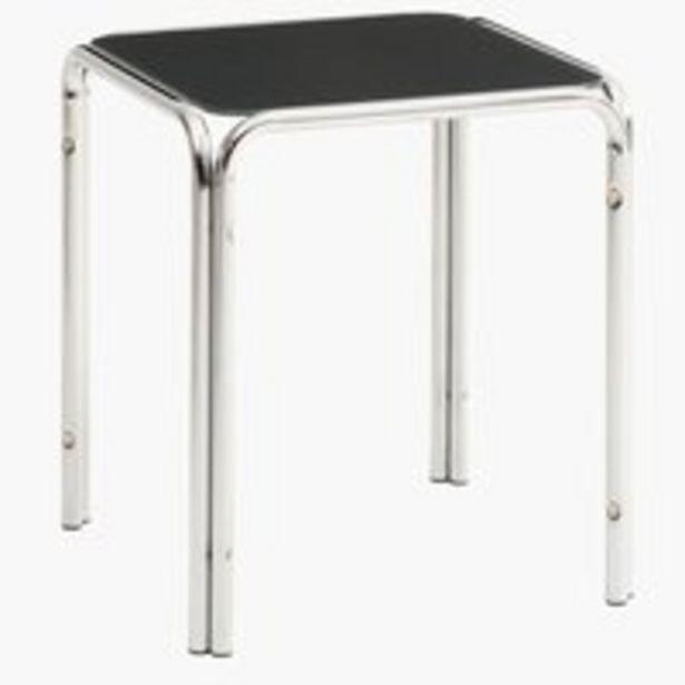 Sohvapöytä SHINE 40x40 harmaa/kromi -tarjous hintaan 35€