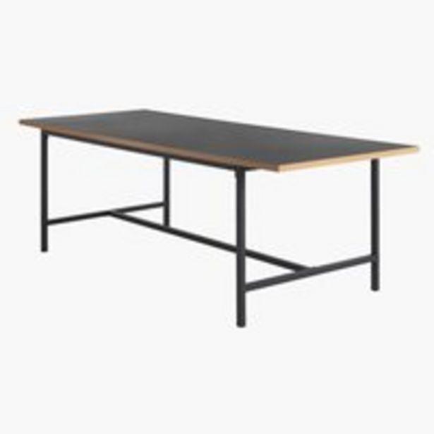 Ruokapöytä EGUM 90x220 musta/tammi -tarjous hintaan 299€