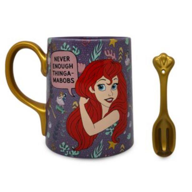 Disney Store Ariel Mug and Spoon, The Little Mermaid -tarjous hintaan 20€