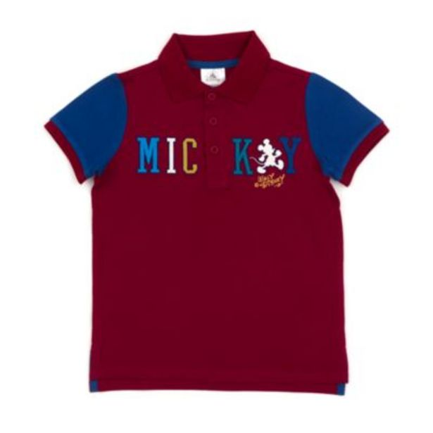 Disney Store Mickey Mouse Burgundy Polo Shirt For Toddlers & Kids -tarjous hintaan 8€