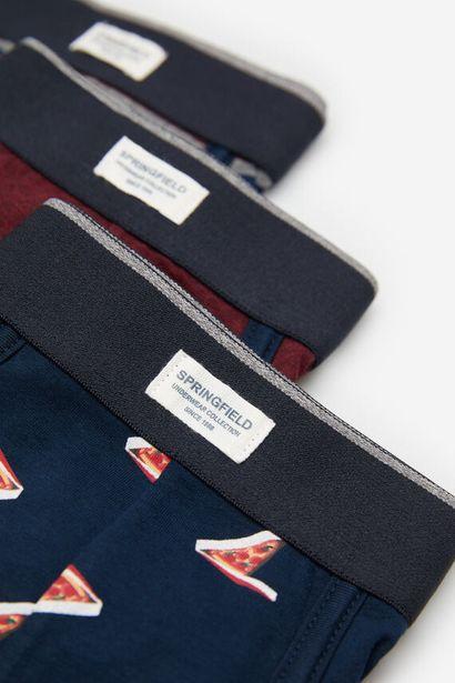 3-pack pizza print boxers -tarjous hintaan 25,99€
