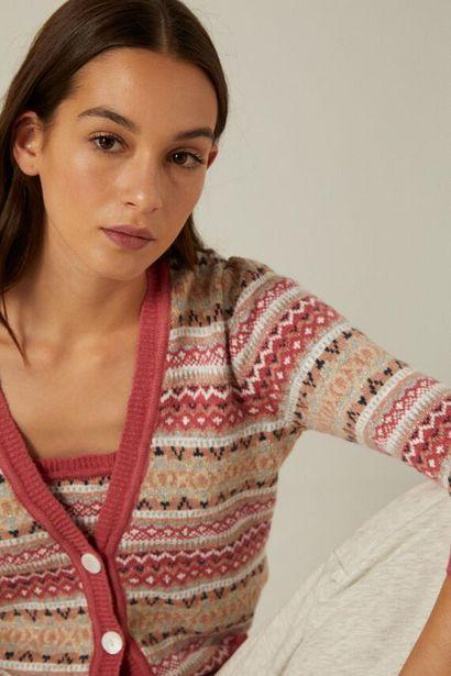 Organic cotton jacquard cardigan -tarjous hintaan 17,99€