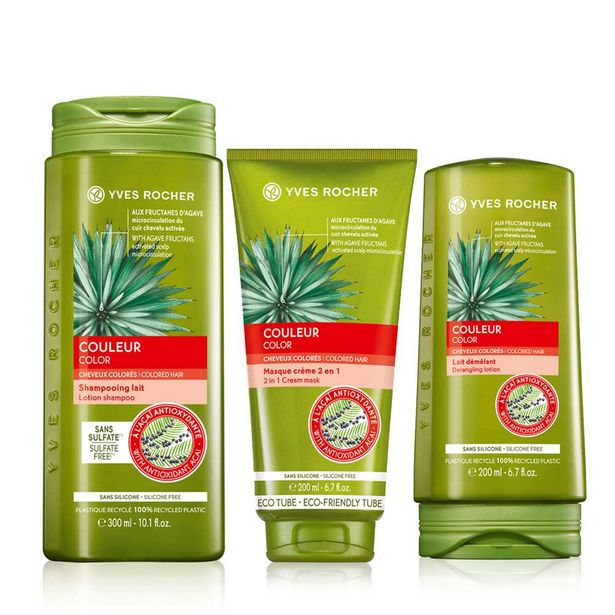 Setti - Värjätylle hiuksille, sampoo, hoitoaine, hiusnaamio -tarjous hintaan 21,9€