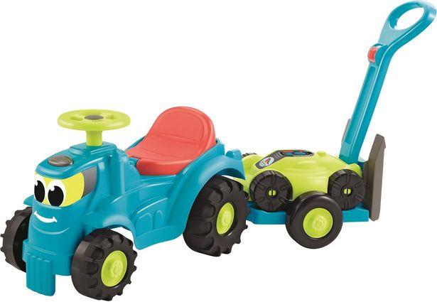 Ecoiffier -traktori ja peräkärry + ruohonleikkuri -tarjous hintaan 20,9€