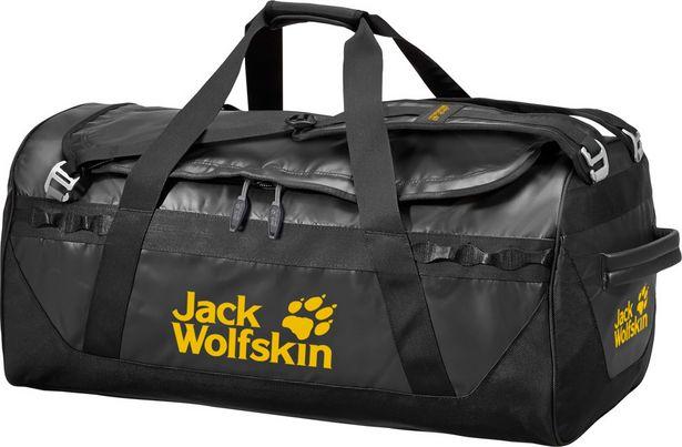 Jack Wolfskin Expedition Trunk 65 -duffelkassi, musta -tarjous hintaan 139,99€