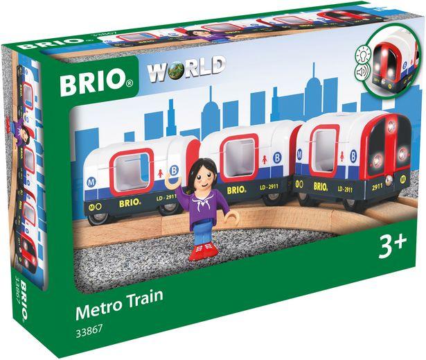 BRIO-metrojuna, veturi ja kaksi vaunua -tarjous hintaan 21,9€