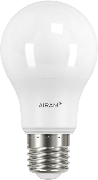 Airam LED Classic A60 -lamppu, 2700 K, 806 lm, opaali -tarjous hintaan 4,9€