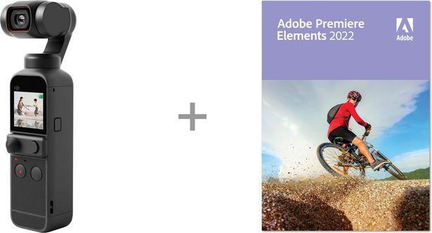 DJI Pocket 2 Creator Combo -videokamera + Adobe Premiere Elements 2022 -tarjous hintaan 589,8€
