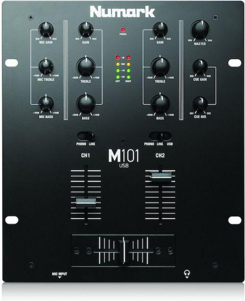 Numark M101USB DJ-mikseri -tarjous hintaan 94,9€
