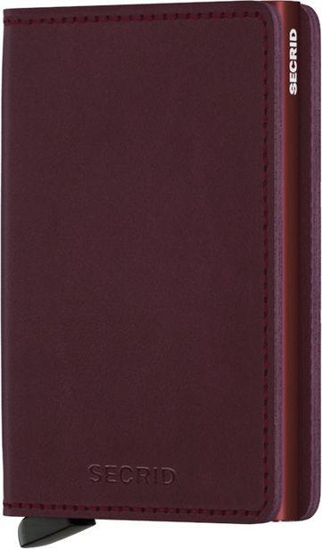Secrid Original Slimwallet -lompakko, tumma punainen -tarjous hintaan 59,99€