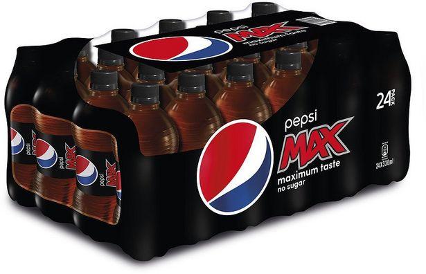Pepsi Max -virvoitusjuoma, 330 ml, 24-PACK -tarjous hintaan 14,99€