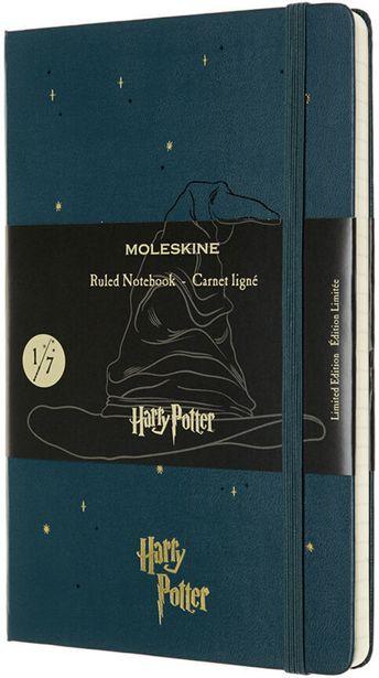 Moleskine 1/7 Harry Potter Large Ruled -muistikirja, tummanvihreä -tarjous hintaan 24,99€