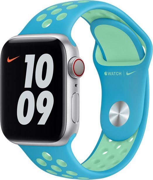 Apple Watch 40 mm Chlorine Blue/Green Glow  Nike Sport -ranneke -tarjous hintaan 48,9€