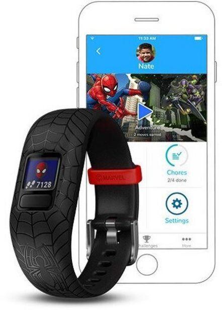 Garmin Vivofit jr. 2 -aktiivisuusranneke, Marvel Spider-Man -tarjous hintaan 59€
