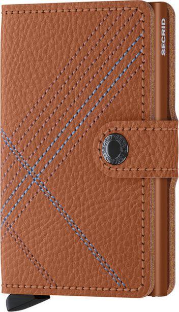 Secrid Stitch Linea Caramello Miniwallet -lompakko, ruskea -tarjous hintaan 74,99€