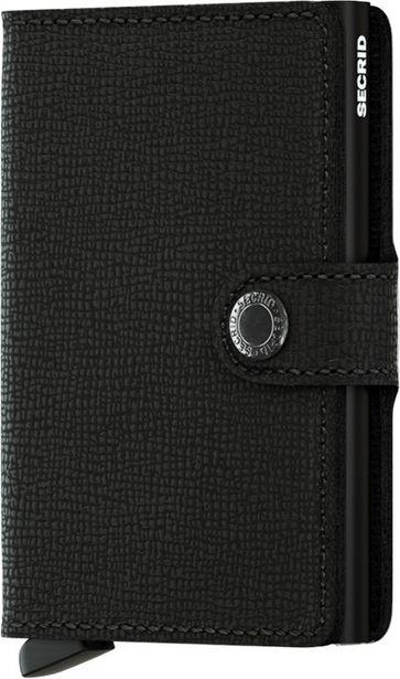 Secrid Crisple Miniwallet -lompakko, musta -tarjous hintaan 64,99€