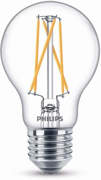 Philips Warm Glow LED -lamppu, E27, 2700 K, 806 lm, CRI 90 -tarjous hintaan 8,9€