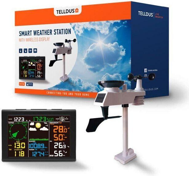 TELLDUS Smart Weather Station -älykäs sääasema värinäytöllä -tarjous hintaan 166,9€