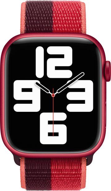 Apple Watch 45 mm punainen (PRODUCT)RED Sport Loop -ranneke -tarjous hintaan 48,9€