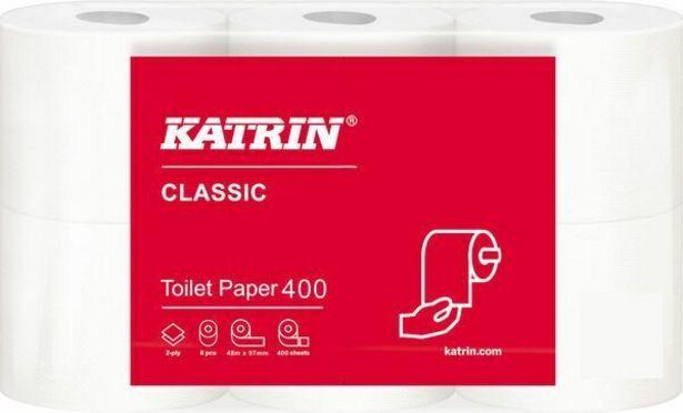 Katrin Classic Toilet 400 WC -paperi, 40 rullaa -tarjous hintaan 58,99€