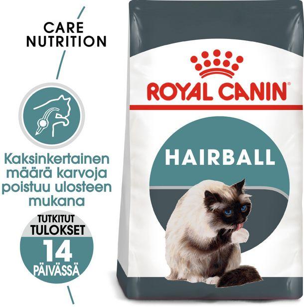 Royal Canin Hairball Care -kuivaruoka, 10 kg, 2-PACK -tarjous hintaan 132,9€