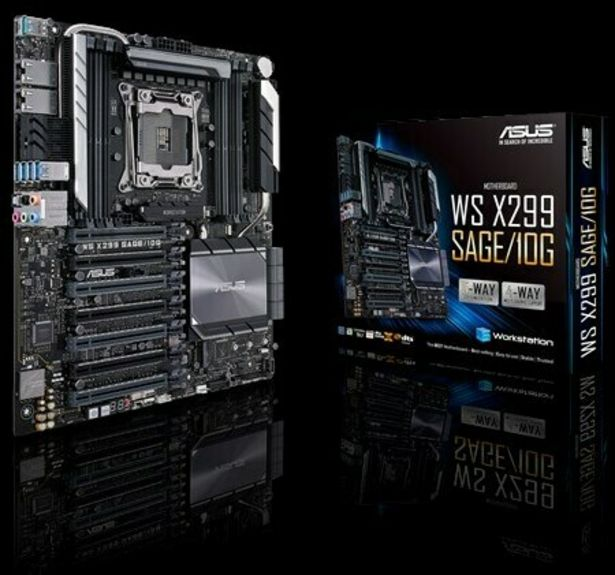 Asus WS X299 SAGE/10G Intel LGA2066 CEB emolevy -tarjous hintaan 788,9€
