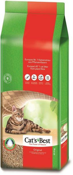 Cat´s Best Original -puupohjainen kissanhiekka, 17,2 kg -tarjous hintaan 31,9€