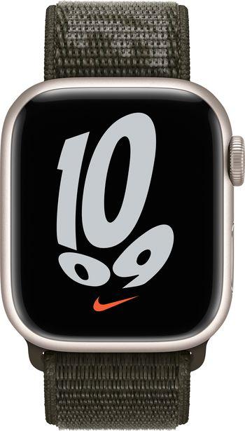 Apple Watch 41 mm Cargo Khaki Nike Sport Loop -ranneke -tarjous hintaan 48,9€