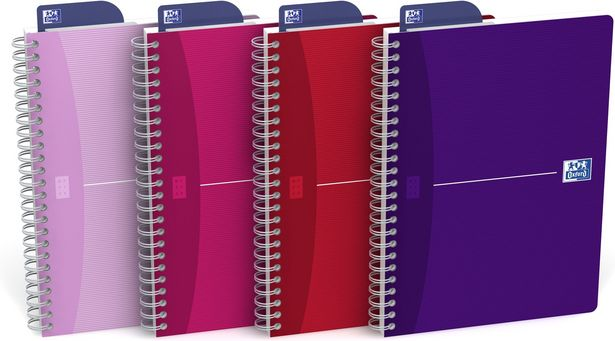 Oxford My Style Notebook A5 -muistikirja, 5 kpl -tarjous hintaan 19,99€