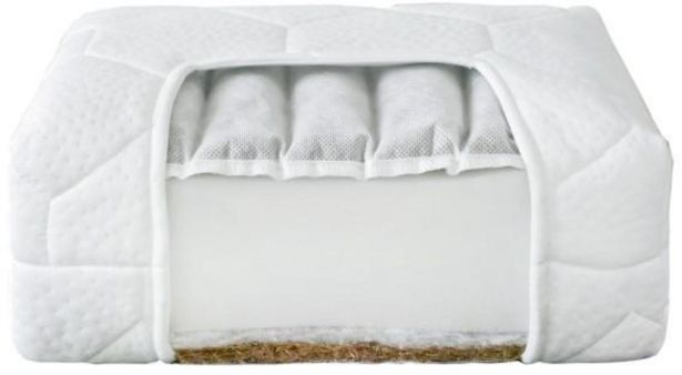 Nordbaby Comfort -patja, tattari ja kookos, 120 x 60 x 8 cm -tarjous hintaan 43,9€