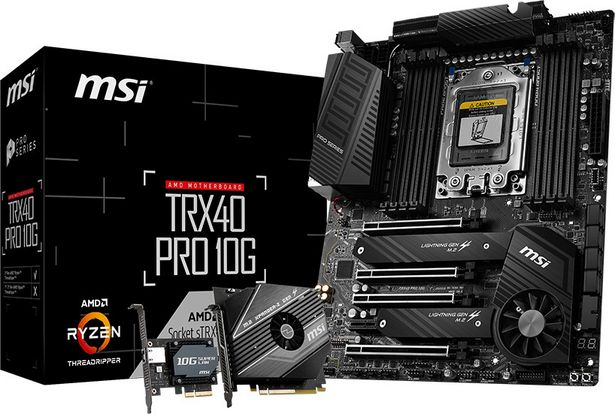MSI TRX40 PRO 10G AMD Socket sTRX4 EATX-emolevy -tarjous hintaan 725,9€