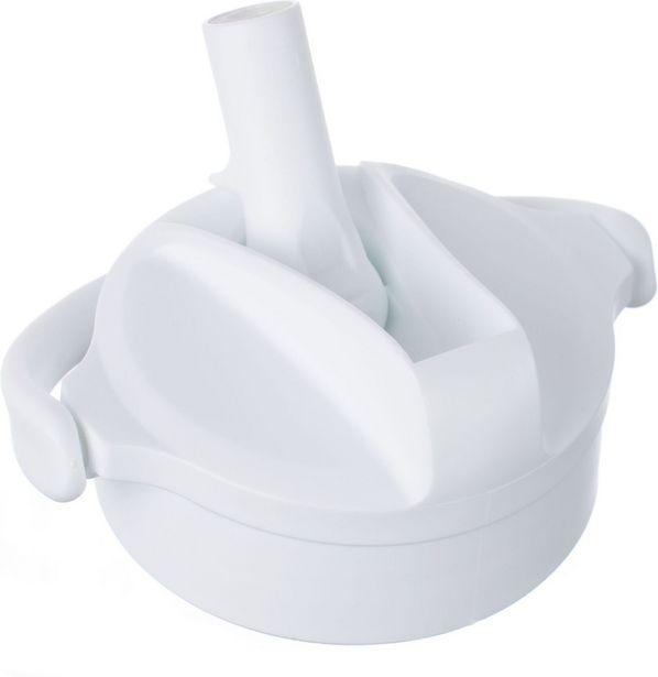 Lifefactory Pivot Straw Cap -juomapullon korkki pillillä, Arctic White -tarjous hintaan 11,9€