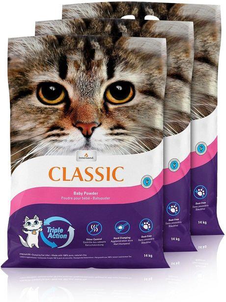 Classic Baby powder -kissanhiekka, 14 kg, 3-PACK -tarjous hintaan 39,9€