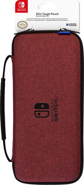 Hori Slim Tough Pouch -suojakotelo, punainen, Switch / Switch OLED -tarjous hintaan 19,9€