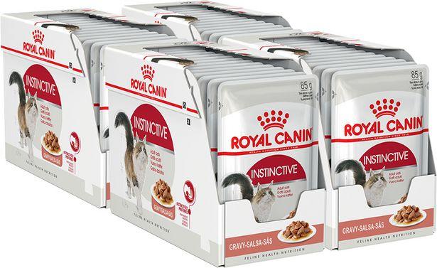 Royal Canin Instinctive kastikkeessa, 85 g, 48-PACK -tarjous hintaan 44,9€