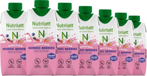 Nutrilett Smoothie Nordic Berries -ateriankorvikejuoma, 330 ml, 12-PACK -tarjous hintaan 19,9€