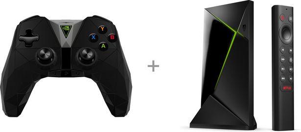 NVIDIA Shield TV Pro -4K HDR mediatoistin + NVIDIA Shield TV Controller tuotepaketti -tarjous hintaan 269,89€