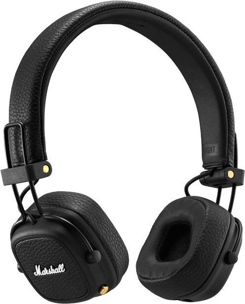 Marshall Major III Bluetooth -Bluetooth-kuulokkeet, mustat -tarjous hintaan 69€