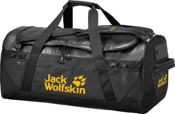 Jack Wolfskin Expedition Trunk 100 -duffelkassi, musta -tarjous hintaan 149,99€