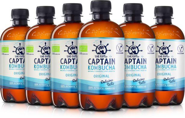 The Gutsy Captain Kombucha Original -teejuoma, 400 ml, 12-PACK -tarjous hintaan 29,99€
