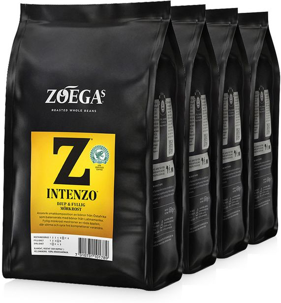 Zoégas Intenzo -kahvipapu, 1,8 kg -tarjous hintaan 15,99€