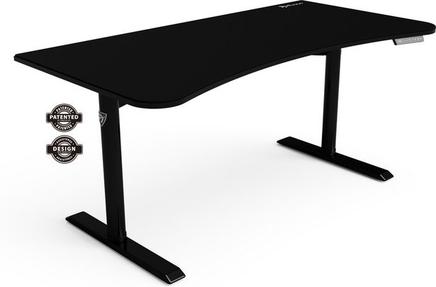 Arozzi Arena Moto Gaming Desk -sähköinen pelipöytä, musta -tarjous hintaan 599,9€