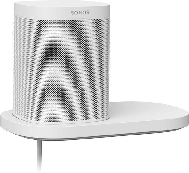 Sonos-kaiutinhylly Sonos One- ja Play:1-kaiuttimille, valkoinen -tarjous hintaan 69€