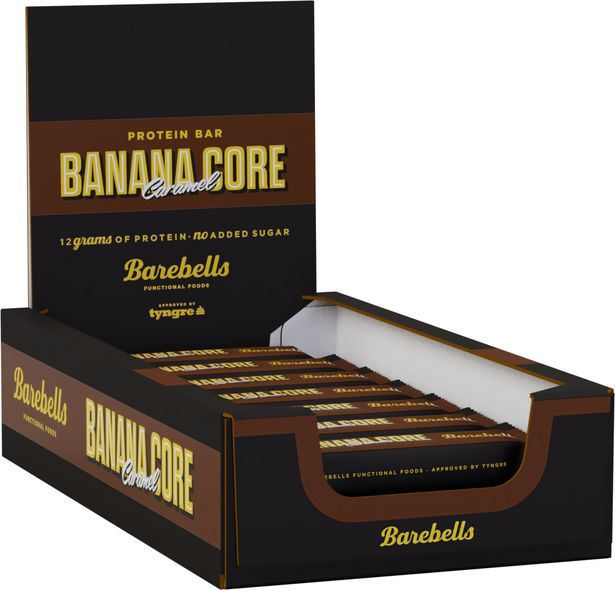 Barebells Banana Core -proteiinipatukka, 35 g, 18-pack -tarjous hintaan 29,99€
